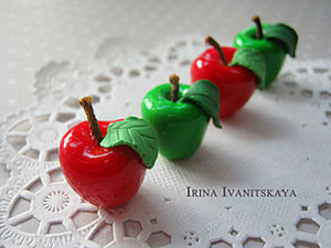 Quick and Easy: Apples of Polymer Clay. Livemaster - handmade