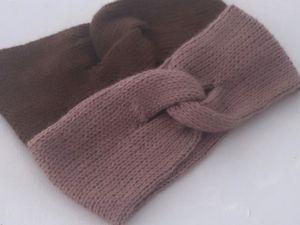 Двойная повязка спицами. Ярмарка Мастеров - ручная работа, handmade.