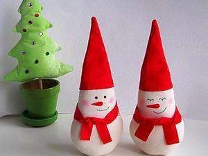 Шьем новогодний сувенир — милого снеговичка. Ярмарка Мастеров - ручная работа, handmade.