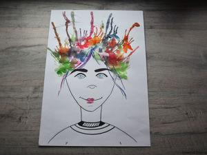 Рисуем с детьми — «Автопортрет»!. Ярмарка Мастеров - ручная работа, handmade.