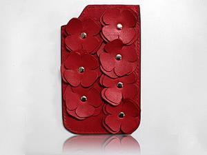 Изготавливаем оригинальный женский чехол для телефона из кожи. Ярмарка Мастеров - ручная работа, handmade.