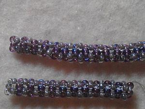 Осваиваем плетение квадратного жгута из бисера. Способ № 2. Ярмарка Мастеров - ручная работа, handmade.