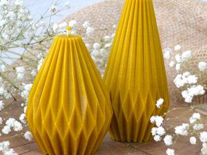 Новые интерьерные свечи из коллекции  «Оригами». Ярмарка Мастеров - ручная работа, handmade.