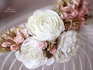 Мастер-класс венок из роз (фоамиран).. Ярмарка Мастеров - ручная работа, handmade.