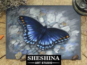 Видеоурок: рисуем бабочку сухой пастелью.. Ярмарка Мастеров - ручная работа, handmade.
