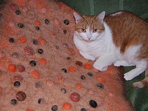 Валяем массажный коврик для ванной комнаты. Ярмарка Мастеров - ручная работа, handmade.