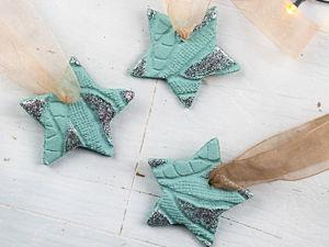 Делаем звезды из соленого теста на ёлку. Ярмарка Мастеров - ручная работа, handmade.