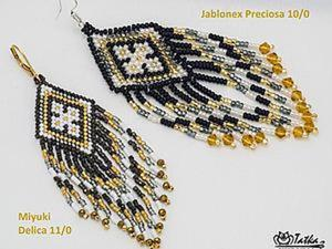 Бисер: Чехия vs Япония в контексте мозаичного плетения. Ярмарка Мастеров - ручная работа, handmade.