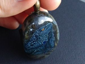 Кулон  «Космическая игуана». Ярмарка Мастеров - ручная работа, handmade.