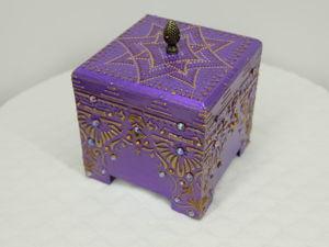 Видео шкатулки  «Фиолетовый соблазн 2». Ярмарка Мастеров - ручная работа, handmade.