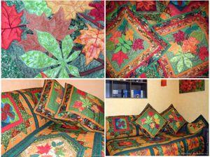 Покрывало пэчворк «Осень» . Ярмарка Мастеров - ручная работа, handmade.