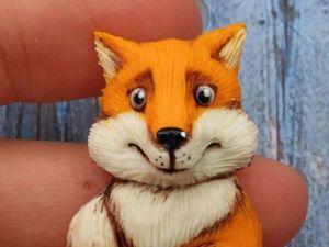 Видеоурок: «Лисёнок» из полимерной глины. Ярмарка Мастеров - ручная работа, handmade.