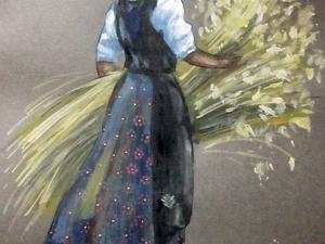 Крестьянка с сеном. Ярмарка Мастеров - ручная работа, handmade.