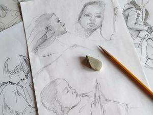 Если хочешь научиться рисовать людей, РИСУЙ наброски. Ярмарка Мастеров - ручная работа, handmade.