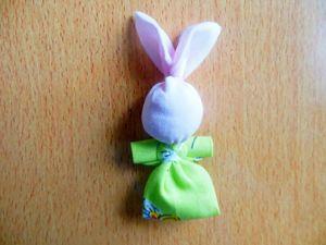 Мастерим текстильную игрушку «Зайчик на пальчик». Ярмарка Мастеров - ручная работа, handmade.