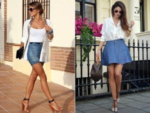 С чем носить джинсовую юбку: советы. Ярмарка Мастеров - ручная работа, handmade.