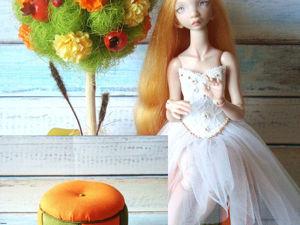 Делаем пуфик для куклы Сони. Ярмарка Мастеров - ручная работа, handmade.