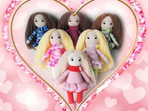Вязаная кукла игровая, лучшая кукла в подарок для девочки. Ярмарка Мастеров - ручная работа, handmade.