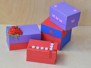 Как сделать коробочку заданного размера. Ярмарка Мастеров - ручная работа, handmade.