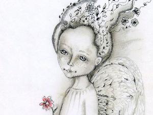 Уникальная коллекция графических работ с ангелами. Ярмарка Мастеров - ручная работа, handmade.