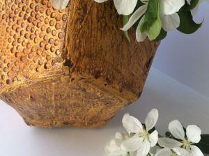 Кашпо из цемента и ткани своими руками. Ярмарка Мастеров - ручная работа, handmade.