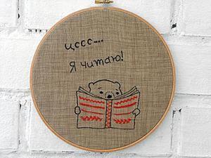Как легко оформить работу в стиле «Hoop Art». Ярмарка Мастеров - ручная работа, handmade.
