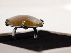 Кольцо с камнем сердолик. Ярмарка Мастеров - ручная работа, handmade.