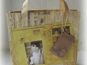 Креативная упаковка, или Как я шила бумажный пакет. Ярмарка Мастеров - ручная работа, handmade.
