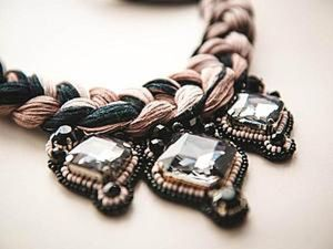 Creating a Stylish Braid Leather Necklace. Livemaster - handmade
