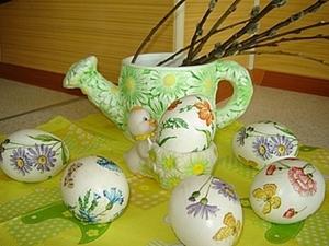 Пасхальные яйца в технике декупаж. Ярмарка Мастеров - ручная работа, handmade.