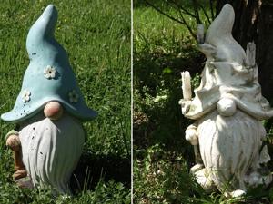 Turning Garden Gnome into Fairy Character: Stone, Moss Imitation. Livemaster - handmade