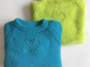 Вяжем пуловер «Сердечный». Ярмарка Мастеров - ручная работа, handmade.