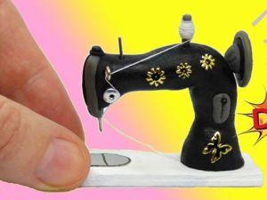 Как сделать швейную машинку для кукол DIY. Ярмарка Мастеров - ручная работа, handmade.