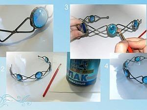 Делаем ободок в технике Тиффани с гравировкой. Ярмарка Мастеров - ручная работа, handmade.