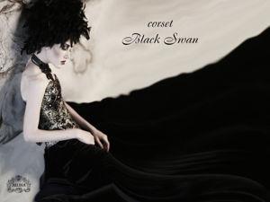 Корсет   «Черный лебедь»  на видео. Ярмарка Мастеров - ручная работа, handmade.