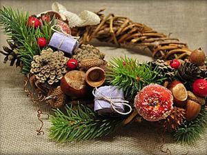 """Рождественский венок из лозы """"с нуля"""". Ярмарка Мастеров - ручная работа, handmade."""