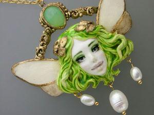 Зеленая фея. Кулон. Ярмарка Мастеров - ручная работа, handmade.