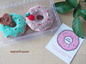 Crochet Donuts Based on Children's Drawings. Livemaster - handmade