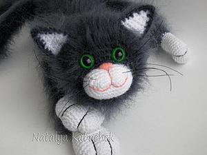 Как сделать усы вязаному котику. Ярмарка Мастеров - ручная работа, handmade.