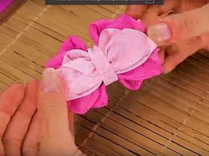 Видеоурок: делаем бантики из репсовых лент. Ярмарка Мастеров - ручная работа, handmade.
