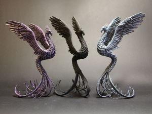 Создаем птицу-феникс из пластика. Ярмарка Мастеров - ручная работа, handmade.