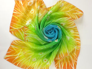 Рисуем на шелке: платок в горячем батике. Ярмарка Мастеров - ручная работа, handmade.