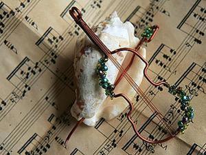 Сам себе Страдивари. Создание кулона-броши в виде скрипки. Ярмарка Мастеров - ручная работа, handmade.