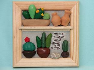 Делаем мини-панно с кактусами. Ярмарка Мастеров - ручная работа, handmade.