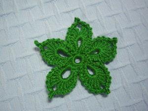 Вяжем цветок для ирландского кружева. Ярмарка Мастеров - ручная работа, handmade.