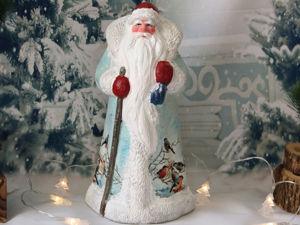 Реставрируем советского Деда Мороза. Перекрашиваем пластиковую фигурку. Ярмарка Мастеров - ручная работа, handmade.