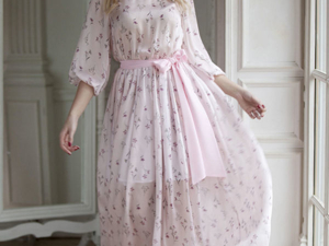 Аукцион на платье из красивейшего шифона! Старт 3000 р.!. Ярмарка Мастеров - ручная работа, handmade.
