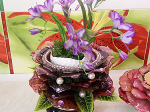 Цветочный горшок  « Хрусталь и Жемчуга» . Ярмарка Мастеров - ручная работа, handmade.