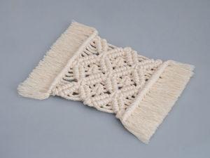 Мастер-класс: салфетка в технике макраме. Ярмарка Мастеров - ручная работа, handmade.