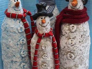 Creating Unique Snowmen out of Papier-Mache. Livemaster - handmade